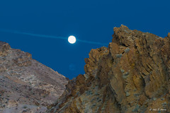 Moonrise and Jet Contrail at Death Valley National Park (nhojuonah) Tags: moonrise moonset moon set death valley jet contrail