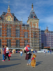 My beauty and the beast (ahwou) Tags: amsterdam amsterdamcentral dogs shermansheperd