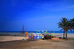 Chiringuitiando... (Fnikos) Tags: port bar beach shore sea sky skyline people palm tree landscape seaside evening outdoor