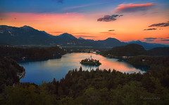 life is more (cherryspicks (on/off)) Tags: lake sunset landscape sky water island bled slovenia panorama lifeismore