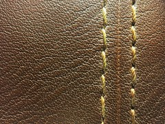 Stitched (Rod Anzaldua) Tags: macro macromondays macromonday leather stitch brown hmm