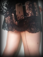201707171810736722 (Fully Fashioned Nylons Frolics) Tags: fullyfashionednylons nylons stockings stockingtops sexyslip slips garters