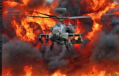 Apache Fire Power (zoomerphil) Tags: riat 2017 apache army aac fire explosion war battle attack strike bang helicopter hover