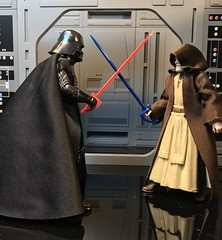 """Okay not one of my normal posts. So how many of you guys did this with your Star Wars figures back in the day? I found these in Canada and I can't believe these are 6"""" scale. If you say yes, you did this then your pretty close to my age. Tooth pic/Martini (chevy2who) Tags: vader darth kenobi obiwan starwars starwarsblackseries series black figure action toyphotography toy wars star cocktail pick tooth sword"""