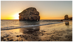 Morning rocks, right on. (malcbawn) Tags: sea rock malcbawncouk seagulls sunrise outdoors marsden malcbawnphotography marsdenrock beach sand morning southtyneside nationaltrust