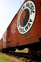 Northern Pacific Box Car (Laurence's Pictures) Tags: north dakota railroad museum train railway transportation freight bismarck burlington northern pacific soo line historic car