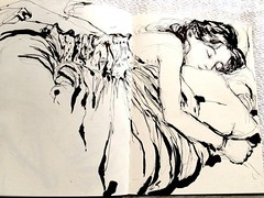 In the dream, There were Complete memories Of the trip. ... (Dorian Vallejo) Tags: art fine drawing figure mixed media drawings oil painting dorian vallejo