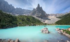 Holy Water (@hipydeus) Tags: mountainlake peak color turquoise blue dolomites dolomiti nature mountains landscape