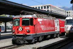 "2017-04-07, RhB, Chur, Ge 4/4"" 633 (Fototak) Tags: schmalspurbahn train treno railway locomotive elok rhb ge44ii rtr switzerland chur graubünden 633"