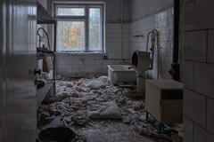 Poltergeist! (Andrew G Robertson) Tags: chernobyl pripyat ukraine nuclear abandoned hospital ghost poltergeist urbex derelict atomic