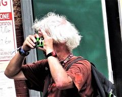 Artscape, 2017 (A CASUAL PHOTGRAPHER) Tags: festivals artscape portraits men photographers oldpeople cameras film fuji pointshoot hair baltimore maryland