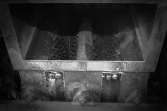 Letters Go Missing (Gram Joel Davies (see ablums)) Tags: junk machine metal scrap device rivet screw steel rust bw blackandwhite industry furniture decay broken abandoned refuse rubbish