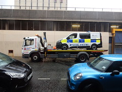 Always amusing... (deltrems) Tags: low loader police van station cars towed break down breakdown blackpool lancashire fylde coast
