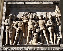 """Alphonse of Aragon, duke of Calabria, returns victorious"" - Detail of the triumphal arch of the king Alphonse of Aragon of Castel Nuovo in Naples - Architect Pietro di Martino (?-Naples 1473) - Years: 1453-1471: inspired by triumphal arches of emperor Ti (Carlo Raso) Tags: alphonseofaragon dukeofcalabria triumphalarch castelnuovo naples pietrodimartino francescolaurana paoloromano isaiadapisa andreadellaquila domenicogagini perejoan antoniodapisa renaissance"