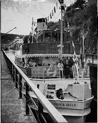 M/S Henrik Ibsen (la1cna) Tags: sigmaquattro monochrome telemarkskanalen løveid telemarkcanal boat ferry locks sluse telemark norway walk