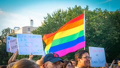 2017.07.26 Protest Trans Military Ban, White House, Washington DC USA 7633