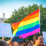 From flickr.com: Protest against Trans Military Ban {MID-146198}
