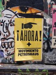 NOW (aestheticsofcrisis) Tags: street art urban interventions streetart urbanart guerillaart graffiti postgraffiti barcelona spain raval europe wheatpaste pasteup
