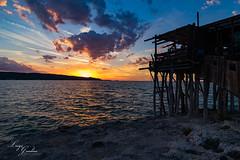 Trabucco del Gargano (Luigi Gaudino) Tags: sunset trabucco tramonto palafitta mare sea rock rocce nuvole gargano puglia vieste ponticello landscape