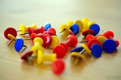 DSC_0077-1 (ScootaCoota Photography) Tags: color colour colorful colourful rainbow indoors table pins thumb tabs small tiny macro close up prime nikon photo photography perth wa australia