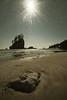 A Sunny Afternoon on Second Beach (Paul T. Marsh/PositivePaul) Tags: paulmarshphotography ultrawidelens paultmarsh canon1740mmf4l seastack nature fadedcolor nikcolorefex sunstarwwwpaulmphotographycom summer 2017 ocean sepiaish roadtripweekend canon5dclassic lightroomcc color sunstar landscape pacificnorthwest canonllens olympicpeninsula beach