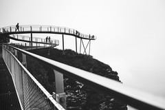 Getting nowhere (Chris Herzog) Tags: ifttt 500px sky landscape city mountains people nature travel light clouds architecture bridge blackandwhite outdoors horizontal cliffs action expression first foggy steep slopes cliff walk switzerland grindelwald