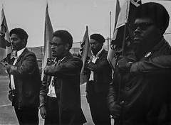 Black Panthers During Drill, 1968 (Greatest Paka Photography) Tags: pirklejones blackpanthers oakland california selfdefense history blackandwhite africanamerican ruthmarionbaruch photography civilrights equality revolutionary militant people
