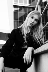 Olga (ivankopchenov) Tags: girl portrait cute canon beautiful natural model mood people face dark fineart soft shadow noir light eos young lonely hair warm sensual gentle cinematic grain depthoffield art black eyes reflection blackandwhite white monochrome cold fashion city street spring