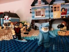Shark Attack...or not?!?!? (valeolligio) Tags: serie17 attack shark 2017 city summer estate collectableminifigures lego