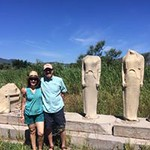 Trip advisors Dr. Hicok and Dr. Goldberg pose together at the Temple of Hera.