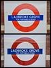 Portabello Vs. Portobello (Joe Shlabotnik) Tags: london portabello portobello sign subway tube underground 2017 england april2017 ladbrokegrove portabelloroad portobelloroad