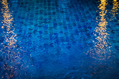 Blue condition (Мaistora) Tags: blue water pool tiles light yellow ripples reflections abstract blues bluecondition corridor direction keeping azure indigo blu cobalt ultramarin concept background wallpaper sony alpha ilce a6000 sel1650pz lightroom