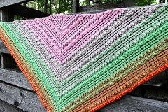 2017.07.31. lost in time shawl 3214m (villanne123) Tags: 2017 crochet shawl wrap cotton souffleyarn lostintimeshawl villanne virkattua virkattu virkattuhuivi