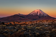 Tongariro National Park's Mt Ngauruhoe volcano at sunset (Jos Buurmans) Tags: dormant evening landscape manawatuwanganui mountdoom mountngauruhoe mountain mountainlandscape mountainpeak mountains mtngauruhoe mttongariro nature newzealand northisland ruapehu snow snowcapped stratovolcano sunset tongarironationalpark volcano mountainscape nz