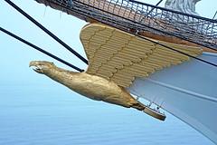 DSC08077 - USCGC Eagle (archer10 (Dennis) 104M Views) Tags: halifax ship tall fog fishing lobster boats sony a6300 ilce6300 18200mm 1650mm mirrorless free freepicture archer10 dennis jarvis dennisgjarvis dennisjarvis iamcanadian novascotia canada rendezvous2017tallshipsregatta tallships halifaxharbour figurehead eagle gold bow