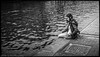 A young talent what is she thinking (vanderwoud1) Tags: camera girl waterfront fujifilm finepix monochrome bnw black white water