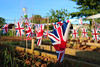 Dig for victory ! (chrisnormandale) Tags: bunting union jack patriotic street photography canon eosm f2 22mm candid colour summer wwwchrisnormandalecom