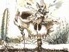 los alumnos prodigos (detalle calaca) (La Calcografía de San Roque) Tags: calaca vegetal dibujo tinta