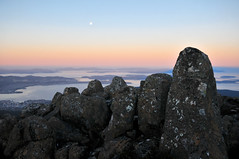 Geology | Mount Wellington, Tasmania (Ping Timeout) Tags: tasmania tassie state australia vacation holiday june 2017 island south commonwealth oz bass strait hobart tas rock mount wellington park kunanyi national public sun light sunset color colour scene mountain scenery sight landmark tourist winter cold formation outdoor landscape nature altitute moon full tranquil peace serene beautifull lunar water