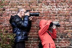 Photographing Photographers (simonjollyphotography) Tags: simonjollyphotography simon jolly photography sony a77ii slt dslr scotland highland people portrait photographer photographers canon nikon brick wall funny