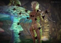 Faery Magic_009 (kristi Stevenson (KC Photography and Graphic Art S) Tags: secondlife secondlife:parcel=islesofperversion faery fairey fantasy wings edited photoscape maitreya rose
