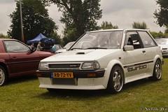 1986 Toyota Starlet 1.3 DX (NielsdeWit) Tags: nielsdewit japan classic sunday gemert 2017 rb72yv toyota starlet turbo intercooler