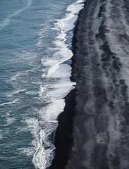 Black and blue (danielfj91) Tags: black beach iceland sea nature landscape coast waves wave ocean atlantic strönd