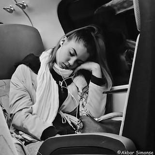 Sleeping by train