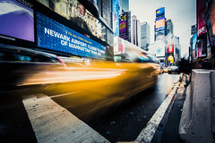 Cabby (DazerVin Photography) Tags: nyc long exposure timing cab yellow nikon d810