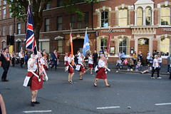 12th July 2017 Orange Order Parade / Celebration Belfast (sean and nina) Tags: 12th twelfth july 2017 summer belfast grand orange lodge ireland lol loyal loyalist protestant unionist pul northern north city centre street public candid photography nikon orangemen bands musicians march marching flags banners men women people persons outdoor order county uniform sash drums flutes crowds demonstration return parade procession band political cultural historical politics culture history tradition ulster