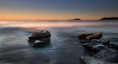 Misty Morning 2 (Rod Burgess) Tags: cookiesbeach nsw southdurras sunrise canon1635f4l canoneos5dmarkiv morning mist rocks dawn longexposure