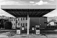 Empty (maxmene70) Tags: urbex abandoned exploration canon 2470 bokeh benzina gasolina abbandonato nuvole cielo citta case asfalto architettura urban travel