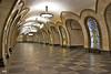 Metro, Moscú. Estación Novoslobodskaya.