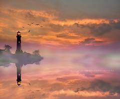 Heaven (artemioskaravas) Tags: artemiosphotos water reflections red sea greece refection sky sunset light color photography peloponnese seaside birds beautiful silhouette loutraki clouds cloudscape